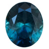 1.22CT OVAL NIGERIAN SAPPHIRE, DEEP TEAL BLUE GREEN, 7X5.9MM