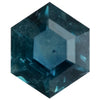 1.27CT HEXAGON MONTANA SAPPHIRE, DEEP BLUE TEAL, 5.7X5.6MM