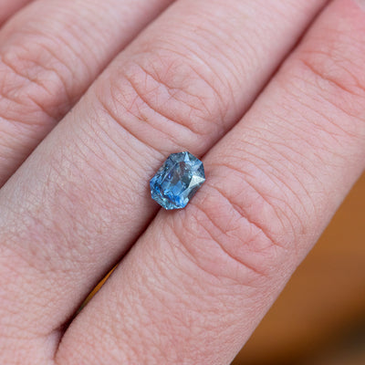 1.29CT EMERALD/RADIANT CUT SAPPHIRE, PERIWINKLE LIGHT BLUE 5X7MM