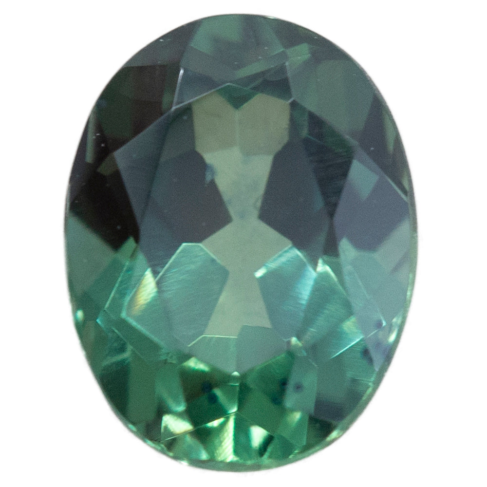 1.29CT OVAL MONTANA SAPPHIRE, BLUE GREEN TEAL, 7.31X5.6MM