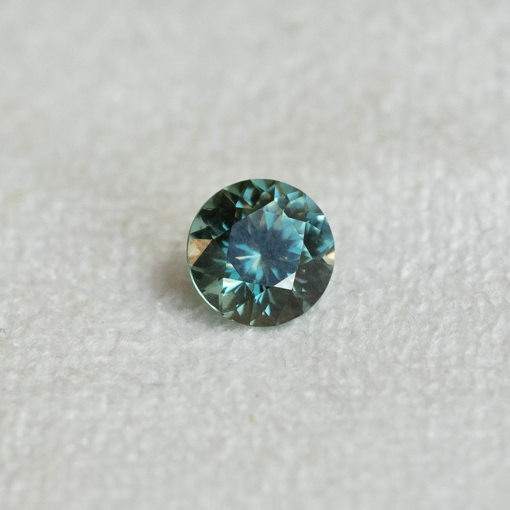 1.30CT MONTANA SAPPHIRE, TEAL BLUE GREEN, 6.5X4.26MM, UNTREATED
