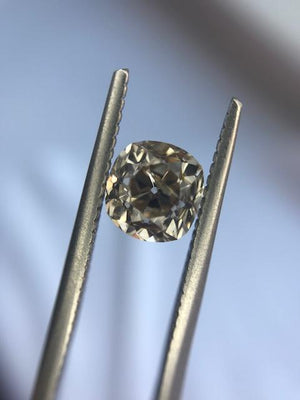 Custom Order- Reservation for Champagne Old Mine Cushion Diamond