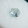 1.35CT HEXAGON ROSECUT MONTANA SAPPHIRE, SEAFOAM GREEN, 6.2X7.3MM