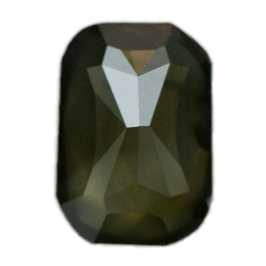 1.35CT ROSECUT EMERALD SHAPED DIAMOND, SMOKY BLACK BROWN GREEN, 7.27X5.08X3.24MM