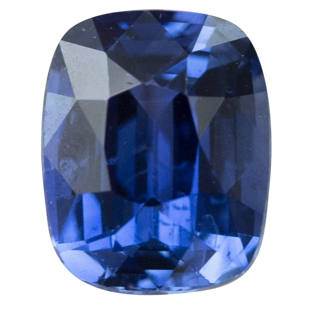 1.37CT CEYLON ANTIQUE RECUT CUSHION SAPPHIRE, VIBRANT BLUE, 6.8X5.4MM
