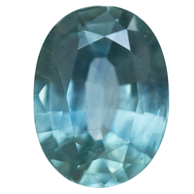 1.39CT OVAL MONTANA SAPPHIRE, LIGHT BLUE AND SEAFOAM, 7.65X5.87MM