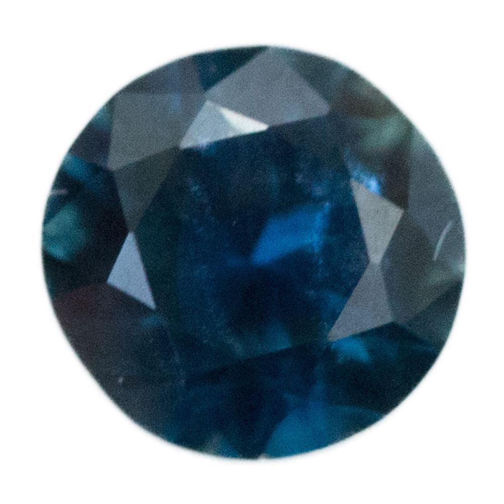 1.44CT ROUND NIGERIAN SAPPHIRE, DEEP BLUE AND GREEN, UNHEATED, 6.7X4.22MM