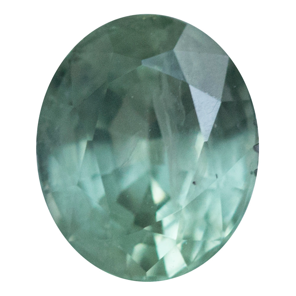 1.45CT OVAL MONTANA SAPPHIRE, MINT LIME GREEN, 7.06X5.82MM