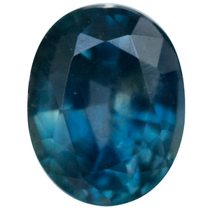 1.48CT OVAL MONTANA SAPPHIRE, TEAL BLUE GREEN 7.19X5.83MM