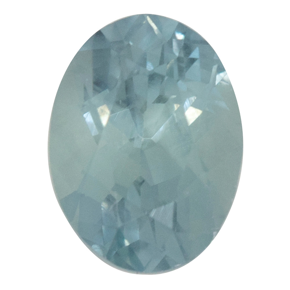 1.49CT OVAL MONTANA SAPPHIRE, SKY BLUE WITH GREY, 7.46X5.67MM