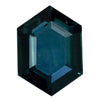 1.51CT ELONGATED HEXAGON MONTANA SAPPHIRE, DEEP BLUE, 8.30x5.9MM