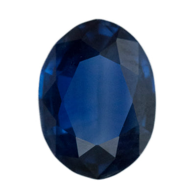 1.53CT OVAL NIGERIAN SAPPHIRE, ROYAL BLUE, UNHEATED, 8.39X6.12MM