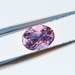 1.54CT OVAL SRI LANKAN SAPPHIRE, PURPLE, UNTREATED, 7.2X5.4MM