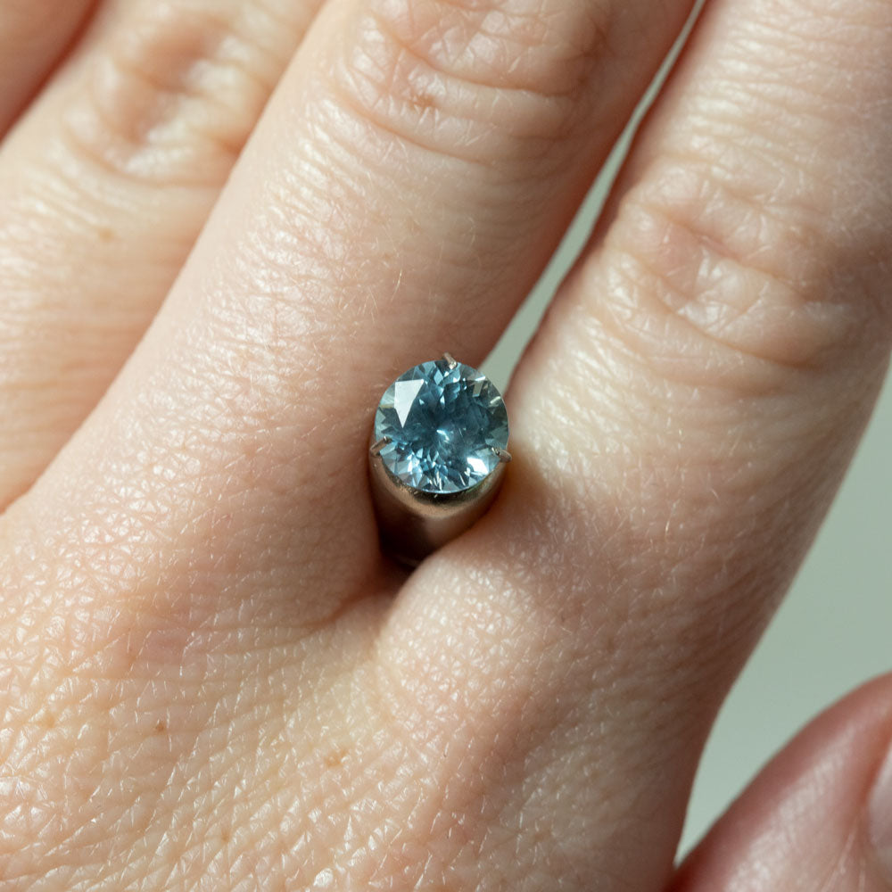 1.54CT ROUND MONTANA SAPPHIRE, MEDIUM SKY BLUE PERIWINKLE, UNHEATED, 6.8MM