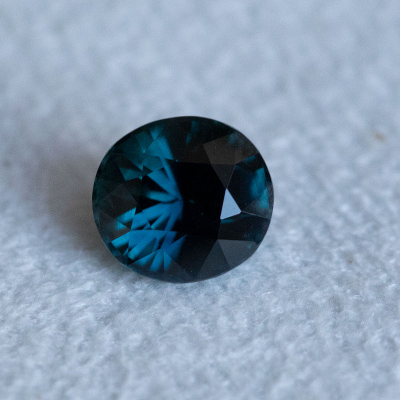 1.54CT OVAL MADAGASCAR SAPPHIRE, DEEP BLUE, 6.75X6.19MM