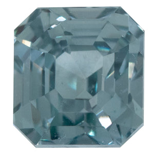 1.36CT ASSCHER CUT MONTANA SAPPHIRE, LIGHT DENIM BLUE, 5.5X5.15MM