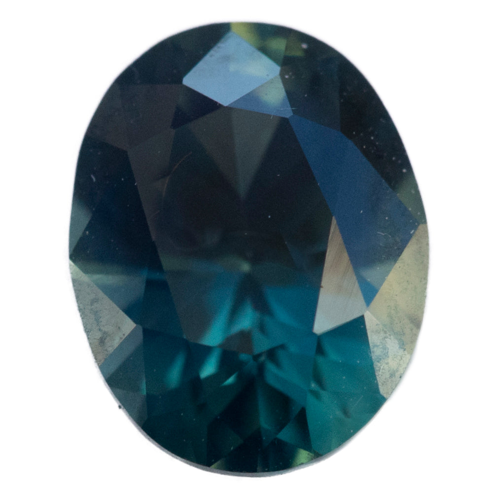 1.56CT OVAL NIGERIAN SAPPHIRE, DARK TEAL BLUE, UNTREATED, 7.70X6.02MM