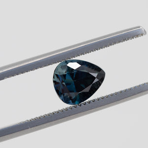 1.56CT PEAR MADAGASCAR SAPPHIRE, ROYAL BLUE, UNHEATED, 7.4X6.28MM