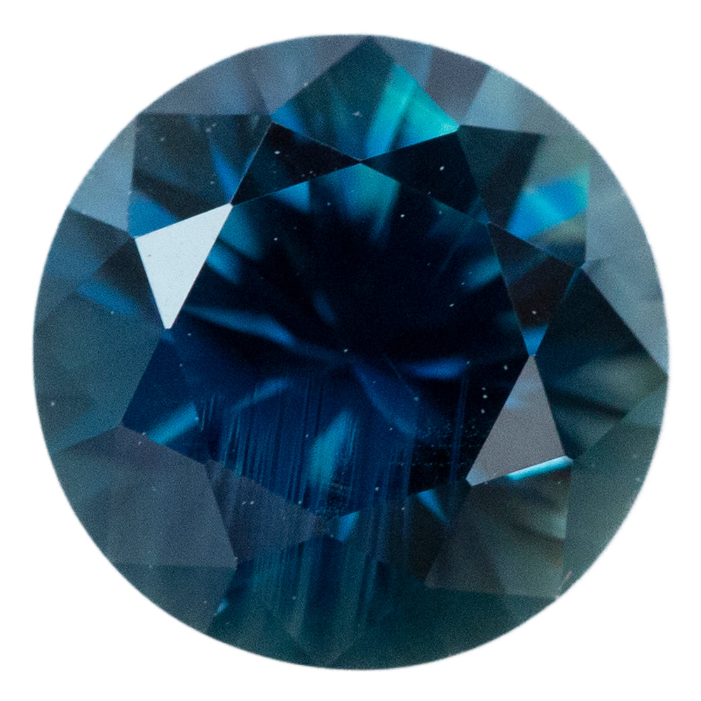 1.5CT ROUND AUSTRALIAN SAPPHIRE, DEEP TEAL BLUE, UNHEATED, 6.7MM