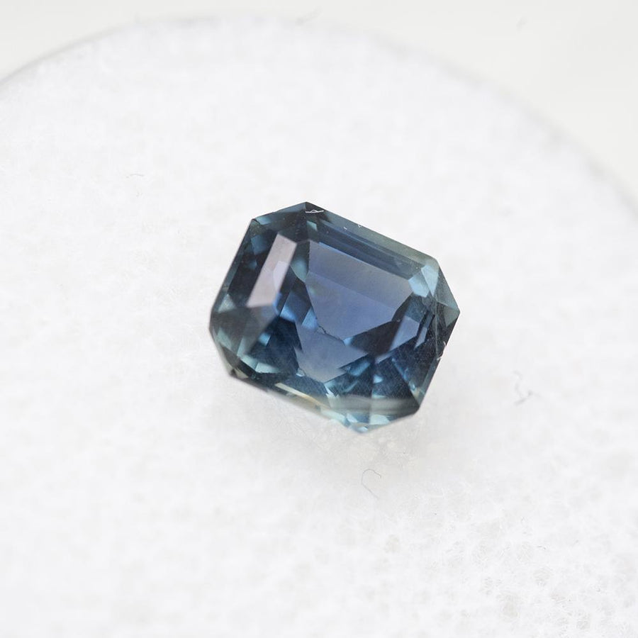 1.66CT MADAGASCAR EMERALD CUT SAPPHIRE, BLUE, UNHEATED, 6.65X5.99MM