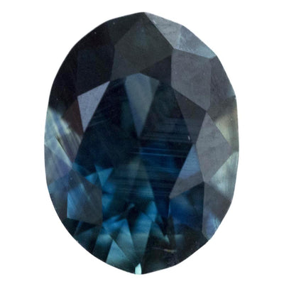 1.68CT OVAL NIGERIAN SAPPHIRE, DEEP TEAL GREEN AND BLUE, UNHEATED, 8.6x6.4MM