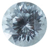 1.69CT ROUND MONTANA SAPPHIRE, SPARKLE CUT, SILVER BLUE GREY, UNHEATED, 7MM