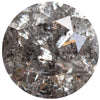 1.71CT ROUND SALT AND PEPPER DIAMOND, DARK SILVERY GREY, 7.38MM