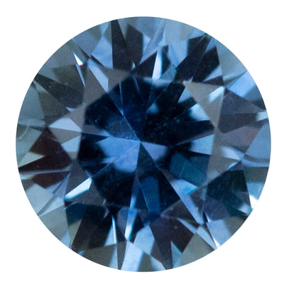 1.74CT ROUND MONTANA SAPPHIRE, PRECISION CUT, PERIWINKLE BLUE PURPLE, 7.1MM