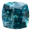 1.74CT SQUARE CUSHION MONTANA SAPPHIRE, TEAL BLUE, 6.6MM