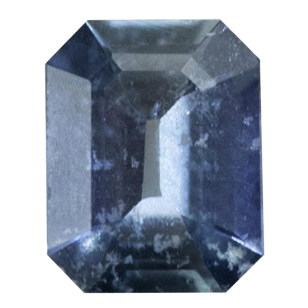 1.74CT CEYLON EMERALD CUT SAPPHIRE, DEEP PERIWINKLE BLUE, 8.2X6.6MM