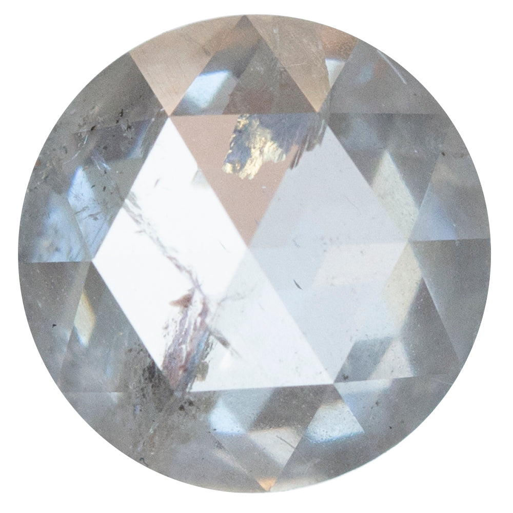 1.75CT ROUND ROSECUT DIAMOND, CLEAR ICY WHITE GREY, 7.61X3.51MM