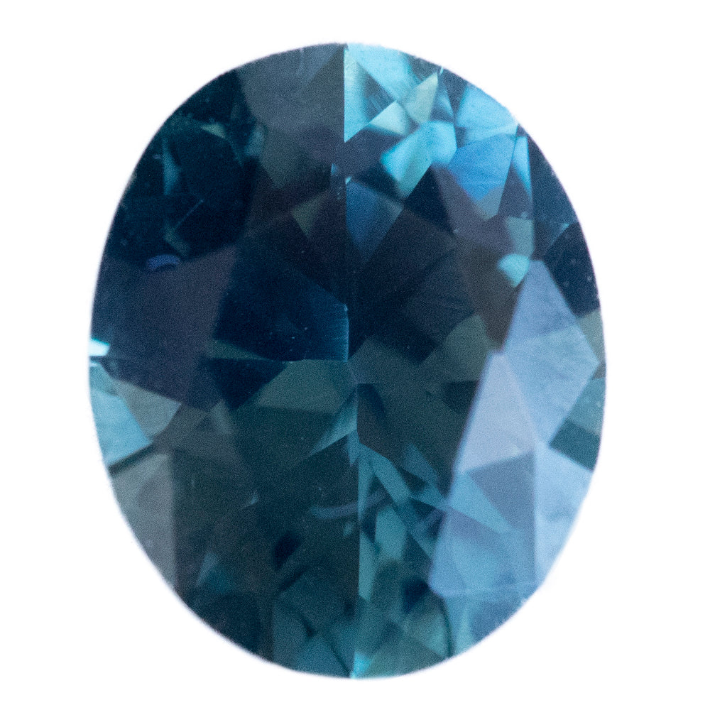 1.78CT OVAL NIGERIAN SAPPHIRE, MEDIUM TEAL BLUE, UNTREATED, 8.24X6.68MM