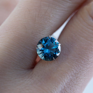 Temporary Hold- 1.79CT ROUND MONTANA SAPPHIRE, OCEAN BLUE, 7.3MM