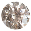 1.81CT ROUND SALT AND PEPPER DIAMOND, SILVERY GREY WITH SLIGHT WARMTH, 7.63MM