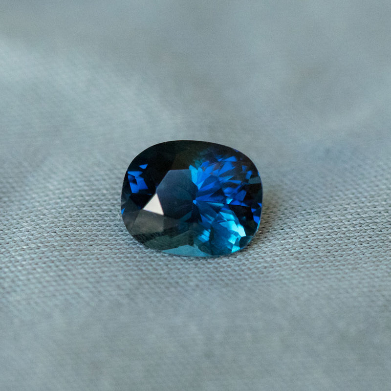 1.82CT ELONGATED CUSHION MADAGASCAR SAPPHIRE, VIBRANT ROYAL BLUE WITH TEAL, 7.56X6.16MM