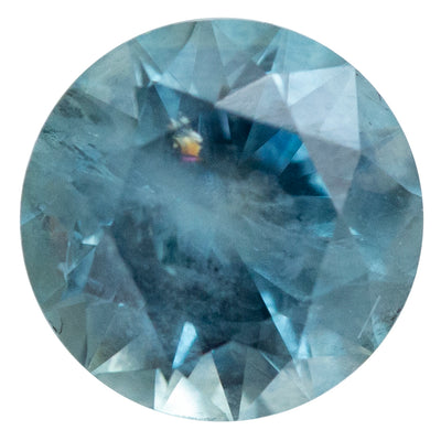1.84CT ROUND MONTANA SAPPHIRE, DUSTY SKY BLUE, 7.1MM