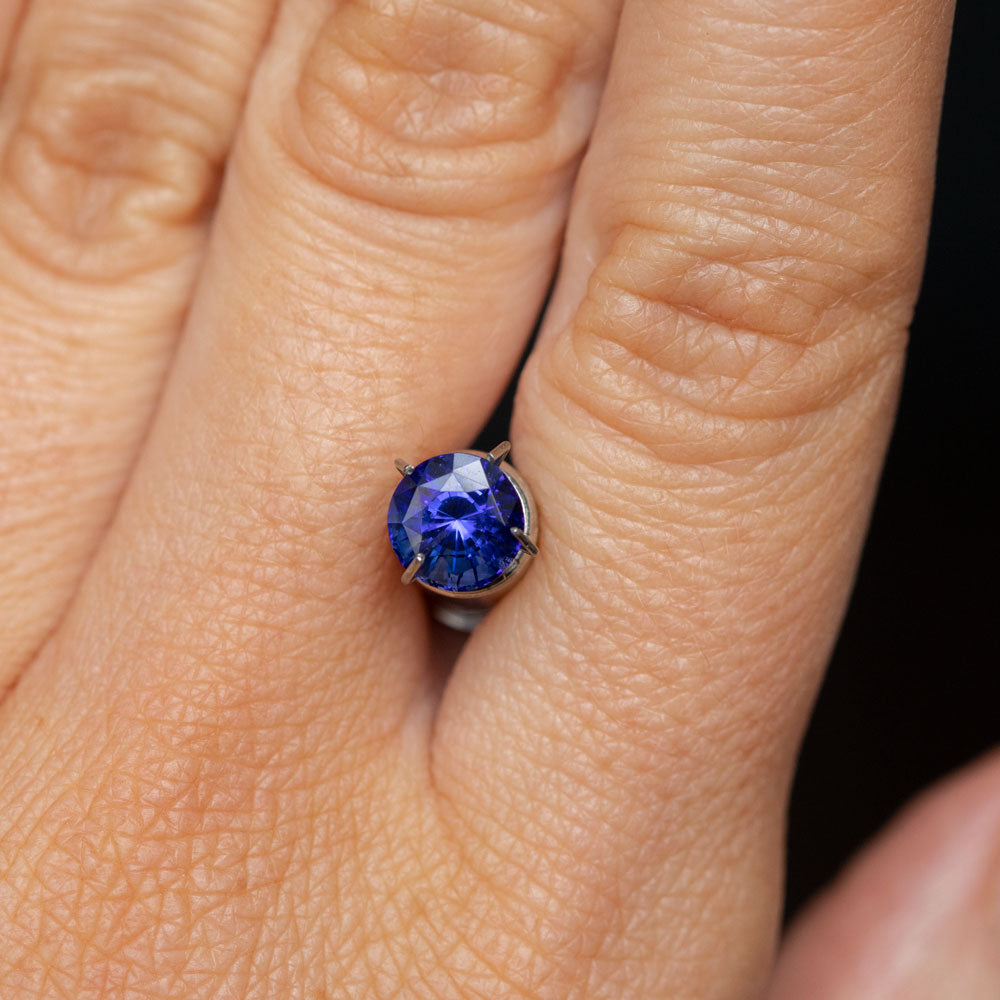 1.84CT ROUND MADAGASCAR SAPPHIRE, VIBRANT ROYAL BLUE, 6.5X5.41MM