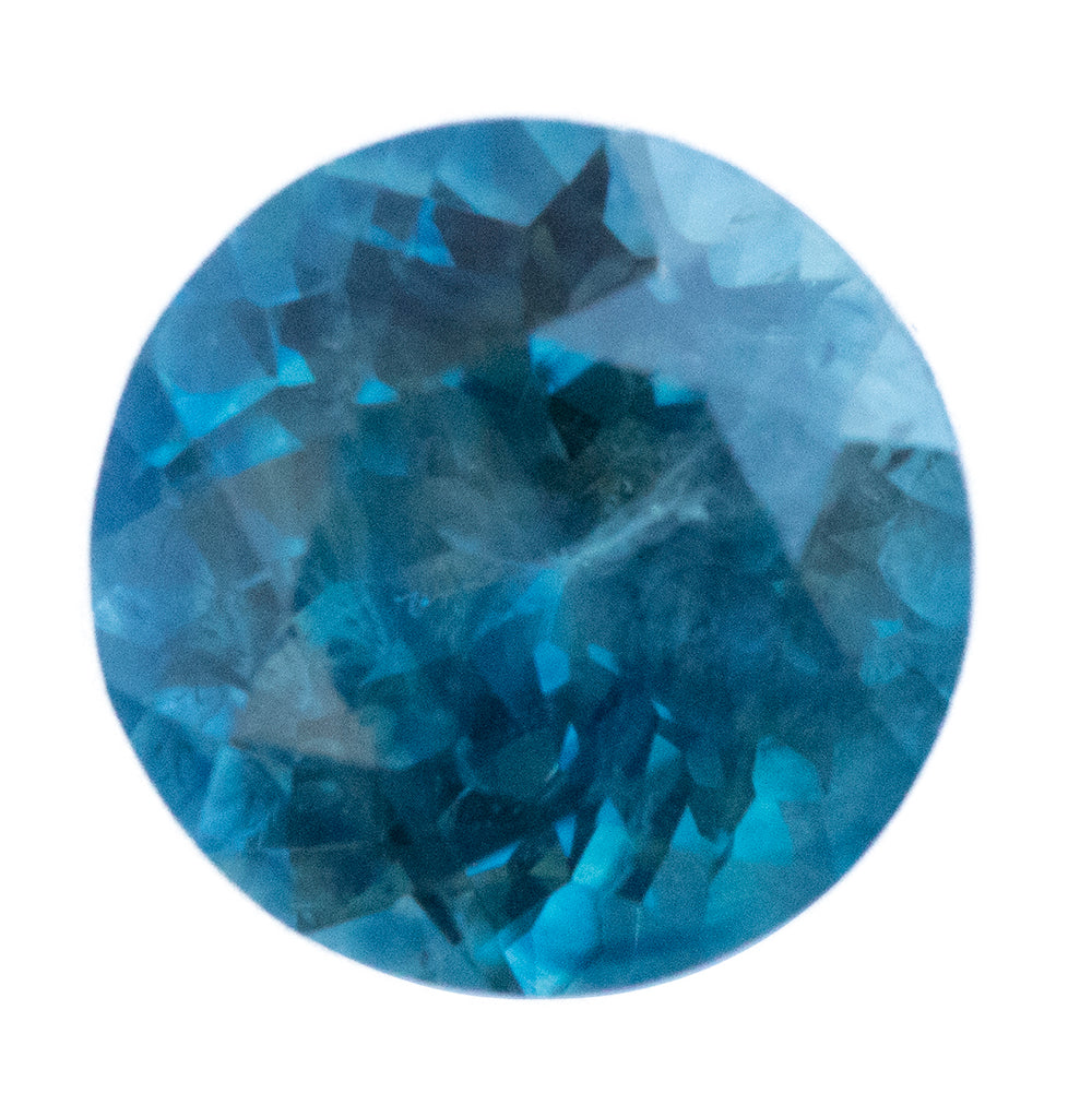 1.85CT ROUND MONTANA SAPPHIRE, TEAL BLUE COLOR CHANGE, 6.91X6.87MM