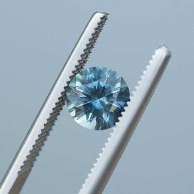 1.80CT ROUND MONTANA SAPPHIRE, PRECISION CUT, TEAL BLUE GREEN, 7.15MM