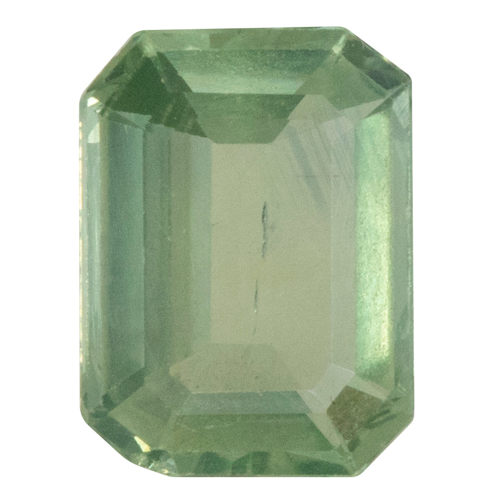 1.90CT EMERALD CUT MONTANA SAPPHIRE, MINT GREEN, UNHEATED, 8.53X6.33MM