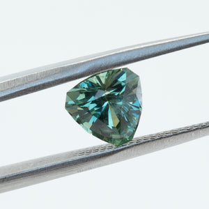 1.92CT TRILLION MONTANA SAPPHIRE, TEAL GREEN, UNHEATED, 7.4X7.4MM