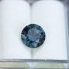 1.93CT ROUND MONTANA SAPPHIRE, PRECISION CUT, DEEP TEAL OCEAN BLUE, 7.35MM