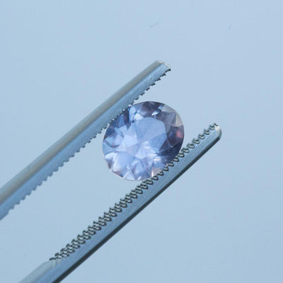 1.95ct OVAL SAPPHIRE, PINK PLATINUM PURPLE, 8.43X6.6MM