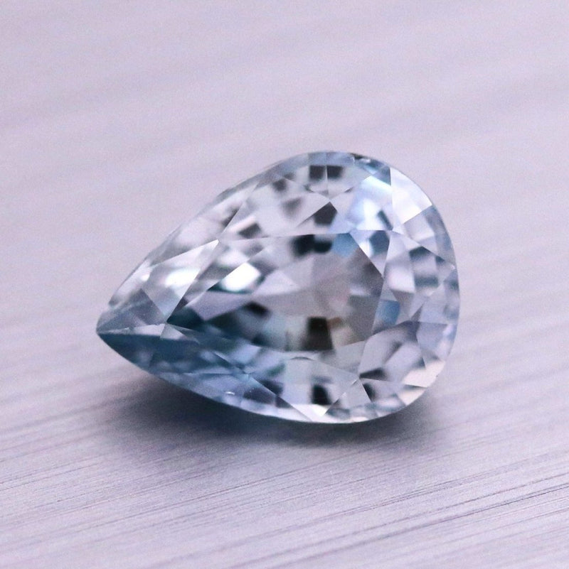 Custom Order-  1.96ct Light Periwinkle Pear Sapphire - Reserved for M.S