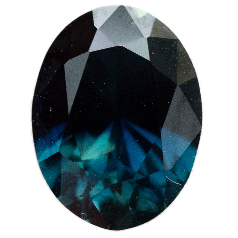 1.97CT OVAL NIGERIAN SAPPHIRE, DEEP TEAL BLUE, UNTREATED, 8.8X6.6MM