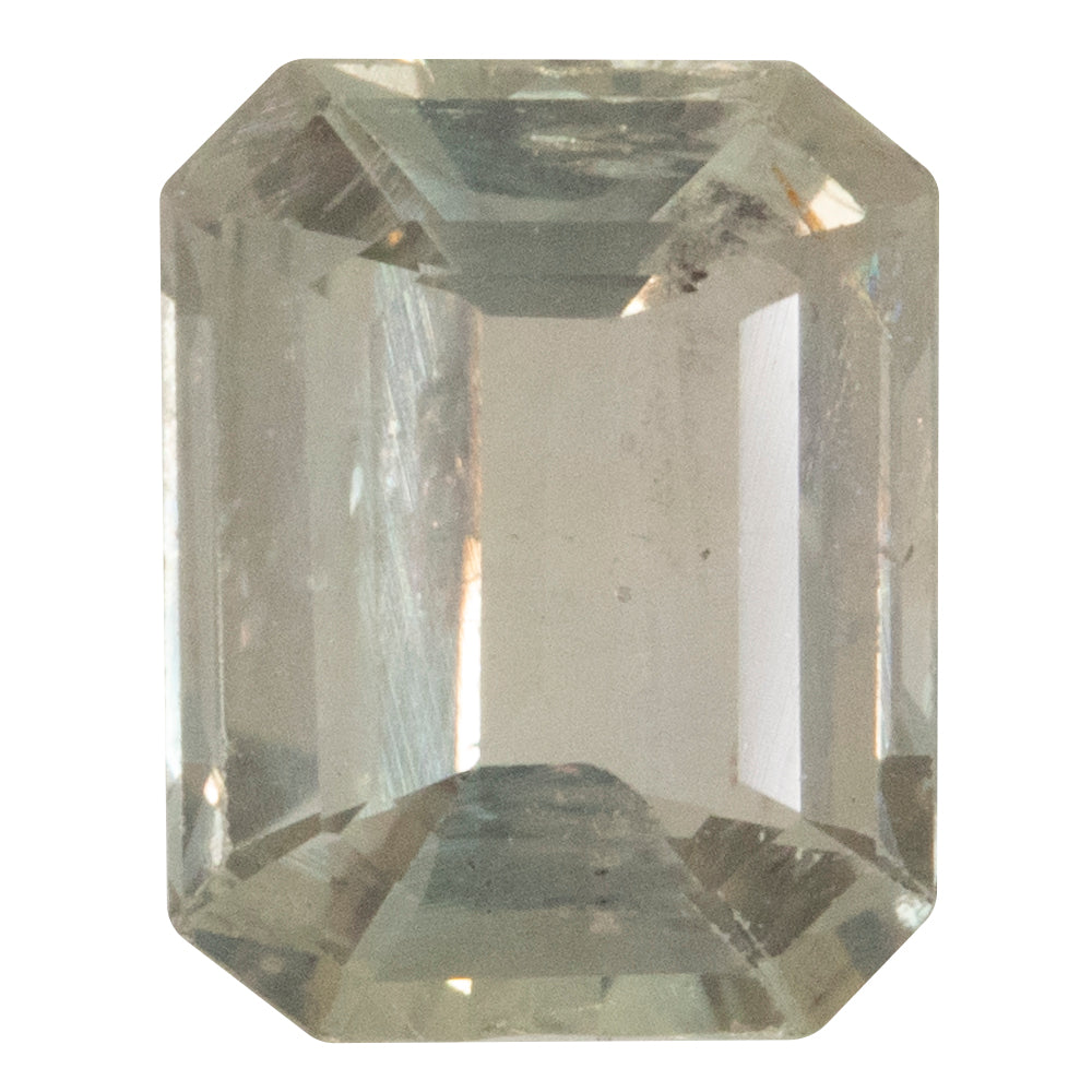 1.98CT EMERALD CUT MONTANA SAPPHIRE, COLOR CHANGE PEACHY PURPLE, UNHEATED, 8.24X6.63MM