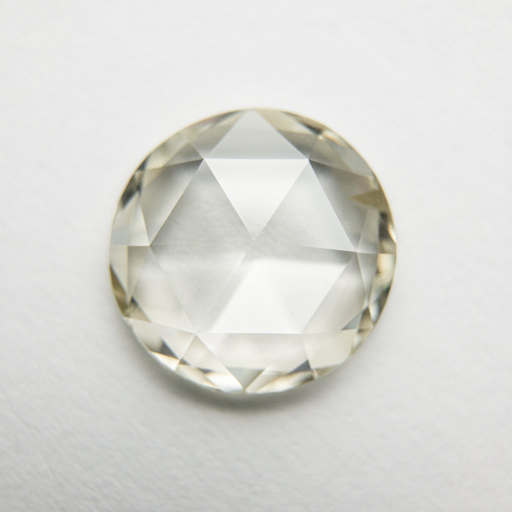 2.07ct 9.36x9.19x2.50mm SI1 Champagne Round Rosecut 18073-01