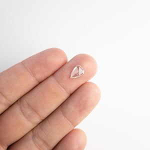 0.74ct 9.01x6.31x1.43mm Shield Rosecut 18117-05