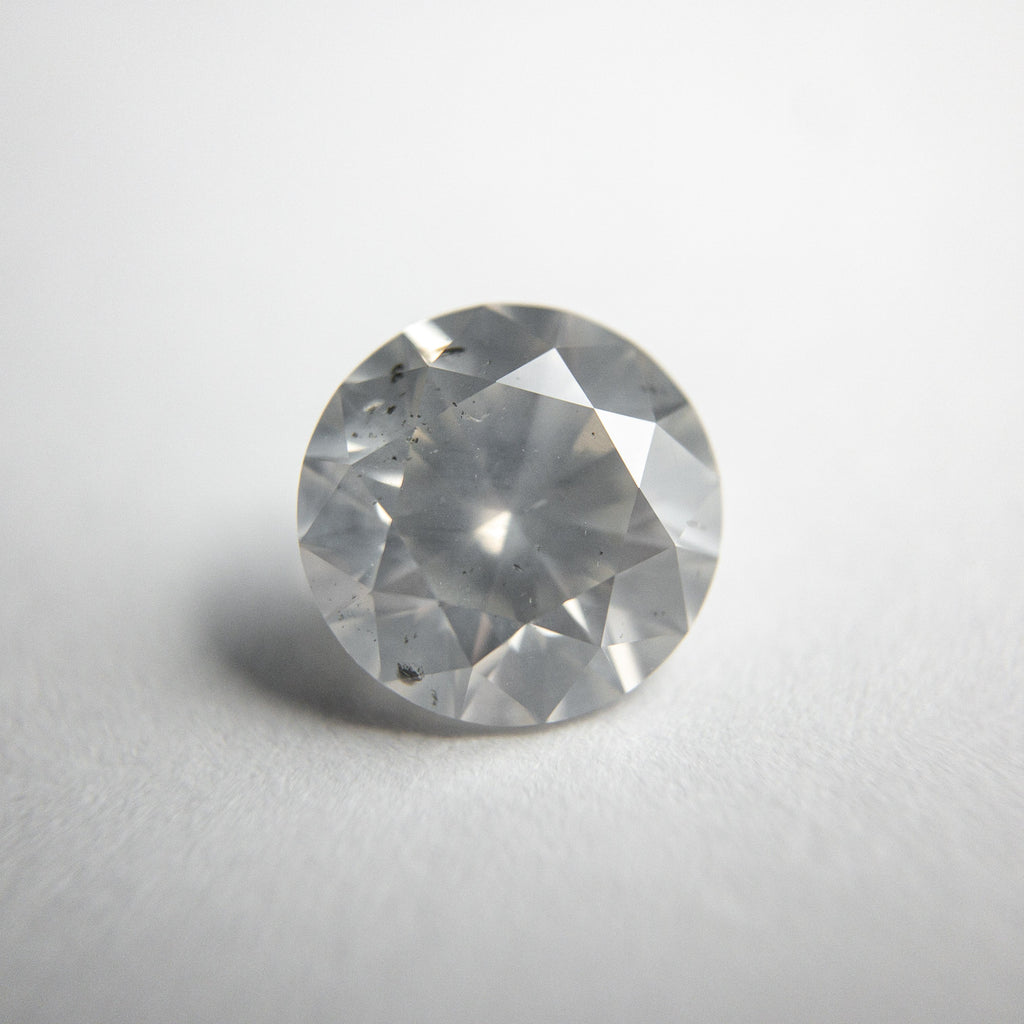 1.80ct 7.67x7.73x4.80mm Silver Grey Round Brilliant 18370-01
