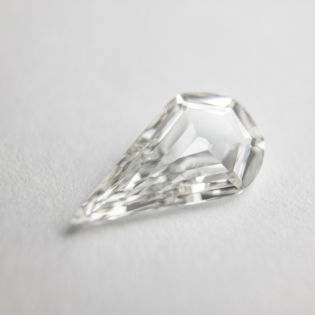 0.93ct 10.65x5.88x2.32mm GIA VS2 G Pear Step Cut 18395-01